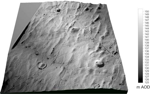 LiDAR 3D Shaded Relief Digital Elevation Model